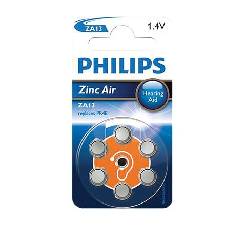 Philips Hearing Aid Battery 6 Pack (Type ZA13)