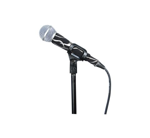 MicFx Corded Microphone Sleeve Hologram Range (Design Rock Flames Silver)