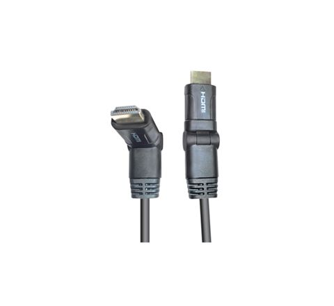 Standard 1.4 Dual Pivoting HDMI to HDMI TV and Video Lead. Contains HDMI Ethernet Channel (HEC). Compatible with 3D Video Formats. Gold Pated Connections (Length (m) 1.5)