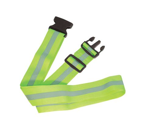 High Visibility Luggage Strap in Yellow and Grey