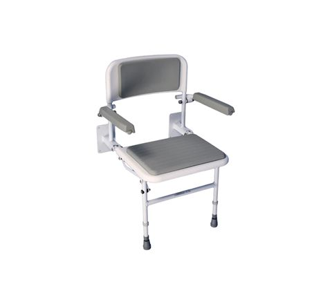 Solo Deluxe Shower Seat (Configuration With Padded Back & Seat)