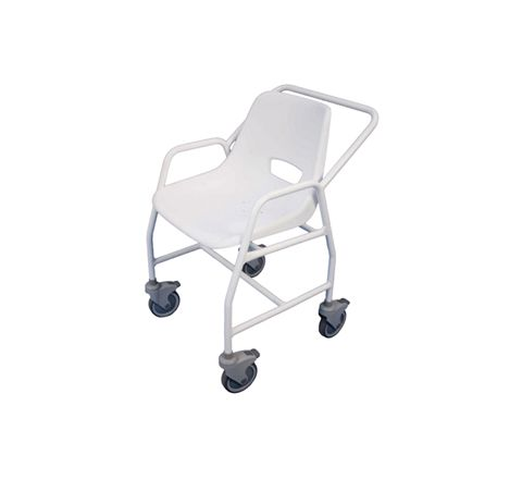 Hythe Mobile Shower Chair with Castors (Configuration Fixed Height with 4 Brakes)