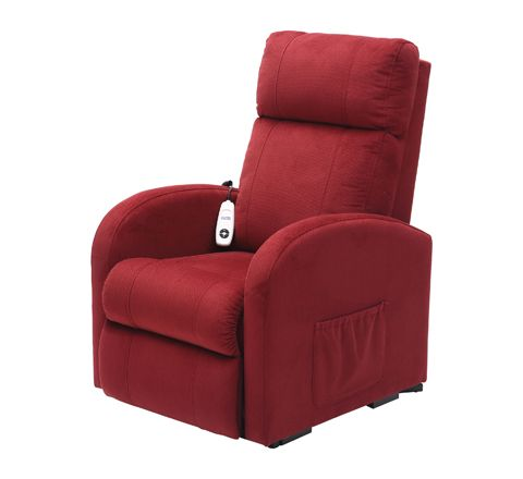 Daresbury Rise and Recline Chair Single Motor (Colour Red Material Micro Fibre)