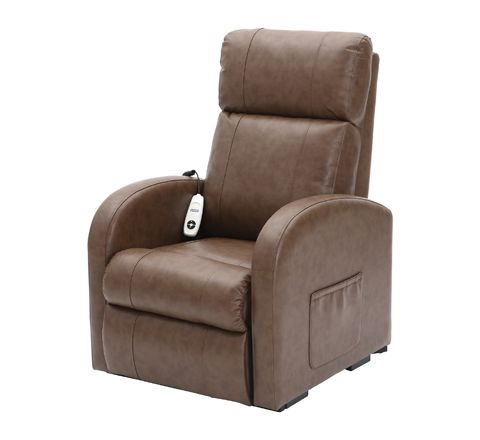 Daresbury Rise and Recline Chair Single Motor (Colour Nutmeg Material PU)