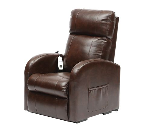 Daresbury Rise and Recline Chair Single Motor (Colour Chestnut Material PU)
