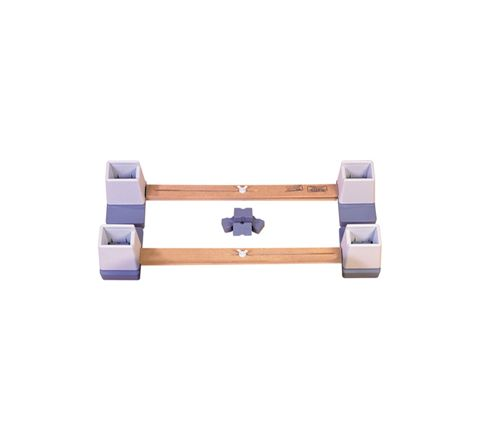 "Adjustable Height and Width Linked Bed Raiser (Size Width: 914 mm (36"") to 1460 mm (57 1/2""))"