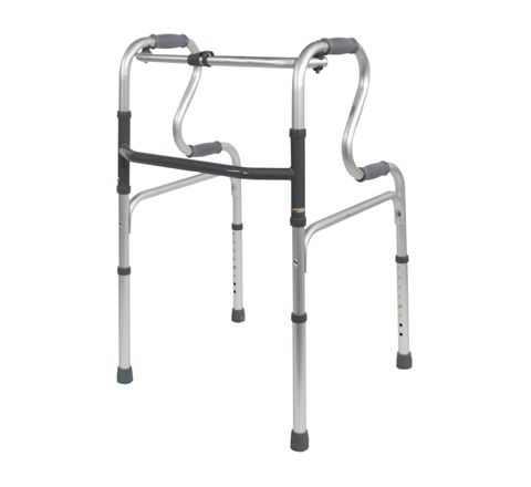 Dual Riser Deluxe Folding Walking Frame (Configuration UnWheeled)