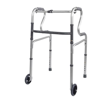 Dual Riser Deluxe Folding Walking Frame (Configuration Wheeled)