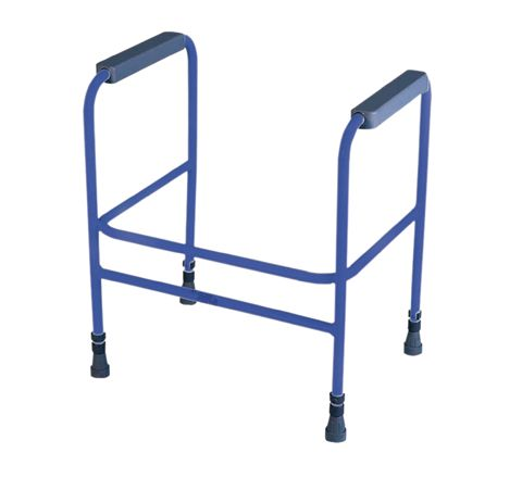 Ashford Height Adjustable Toilet Frame (Configuration Free Standing Colour Blue)
