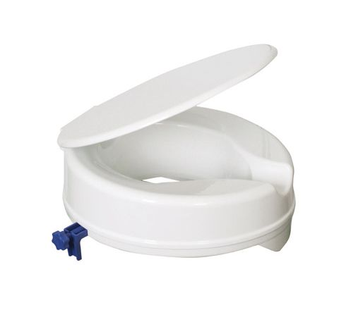 "Senator Plastic Raised Toilet Seat (Size Seat Height: 100 mm (4"") Packing Retail Colour Box)"
