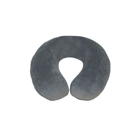 Spare Cover for Blue Memory Foam Neck Cushion (Colour Grey)