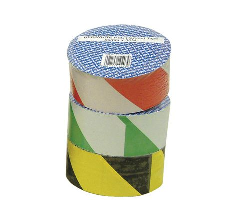 Green/White 50 mm x 30 m Hazard Tape