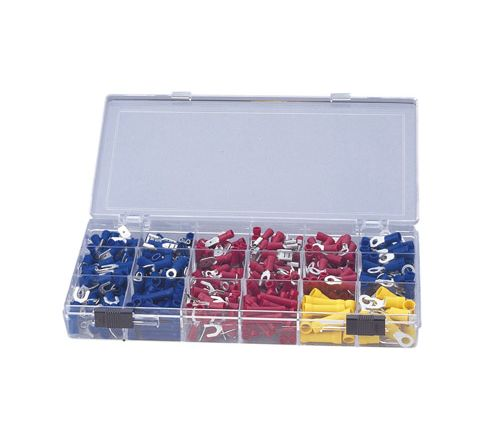 Crimp Terminal and Connector Kit with 100 Assorted Terminals (Number of Crimps 500)